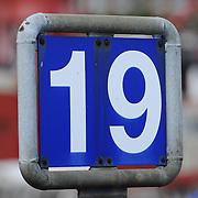 Dock 19 number sign in Hamburg harbor
