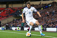 Roman Zobnin (11) (Spartak Moscow) during the UEFA European 2020 Qualifier match between Scotland and Russia at Hampden Park, Glasgow, United Kingdom on 6 September 2019.