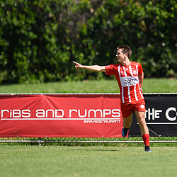 BRISBANE, AUSTRALIA - MARCH 4:  during the NPL Queensland Senior Mens Round 5 match between Olympic FC and SWQ Thunder at Goodwin Park on March 4, 2017 in Brisbane, Australia. (Photo by Patrick Kearney/Olympic FC)
