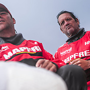 Leg 4, Melbourne to Hong Kong, day 06 on board MAPFRE, Joan Vila looking at the clouds one more time. Photo by Ugo Fonolla/Volvo Ocean Race. 06 January, 2018.