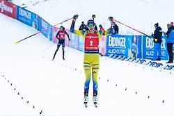 Hanna Oeberg (SWE) celebrating after the Mass Start Women 12,5 km at day 4 of IBU Biathlon World Cup 2019/20 Pokljuka, on January 23, 2020 in Rudno polje, Pokljuka, Pokljuka, Slovenia. Photo by Peter Podobnik / Sportida