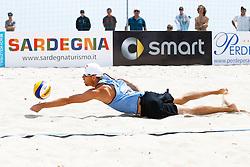 20140606 ITA: EK Beachvolleybal, Cagliari<br /> Alexander Brouwer<br /> ©2014-FotoHoogendoorn.nl / Pim Waslander