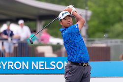 May 9, 2019 - Dallas, TX, U.S. - DALLAS, TX - MAY 09: Hideki Matsuyama hits his tee shot on the tenth hole during the first round of the AT&T Byron Nelson on May 9, 2019 at Trinity Forest Golf Club in Dallas, TX. (Photo by Andrew Dieb/Icon Sportswire) (Credit Image: © Andrew Dieb/Icon SMI via ZUMA Press)