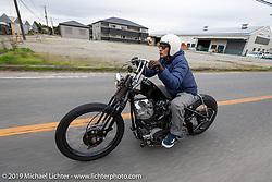 Kazushige Roppongi riding his 1981 Harley-Davidson Shovelhead on the SureShot ride around Chiba, Japan. Saturday, December 8, 2018. Photography ©2018 Michael Lichter.