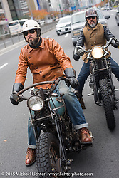 The Race of Gentlemen's Bobby Green on a ride around Tokyo with friends of the Freewheelers And Company shop, Japan. December 8, 2015.  Photography ©2015 Michael Lichter.