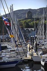 The Clyde Cruising Club's Scottish Series held on Loch Fyne by Tarbert. <br /> <br /> Tarbert Harbour, Castle
