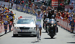 06.07.2011, AUT, 63. OESTERREICH RUNDFAHRT, 4. ETAPPE, MATREI-ST. JOHANN, im Bild der Etappemsieger Alexandre Geniez, (FRA, Skil Shimano) // during the 63rd Tour of Austria, Stage 4, 2011/07/06, EXPA Pictures © 2011, PhotoCredit: EXPA/ S. Zangrando