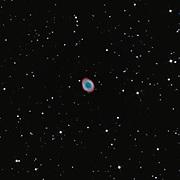 The Ring Nebula (Messier 57) in constellation Lyra.