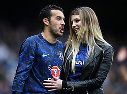 Chelsea's Pedro (left) in the Lap of Appreciation during the Premier League match at Stamford Bridge, London.