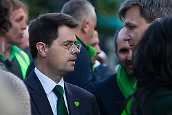London, UK. 14 June, 2019. James Brokenshire, Secretary of State for Housing, Communities and Local Government, joins members of the Grenfell community to take part in the Grenfell Silent Walk around North Kensington on the second anniversary of the Grenfell Tower fire on 14th June 2017 in which 72 people died and over 70 were injured.