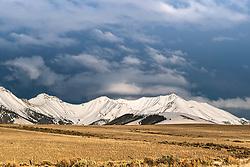 A beautiful spring evening at the at the Pahsimeroi Mountains near Challis Idaho