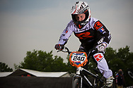 #240 (THOMAS Eva) FRA at the UCI BMX Supercross World Cup in Papendal, Netherlands.