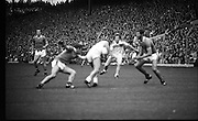 The All Ireland Senior Football Final.1982.19.09.1982.09.19.1982.19th September 1982..The senior final was contested between Offaly and Kerry. Offaly won the title by the narrowest of margins 1.15 to 17 points..Players battle for possession around midfield.
