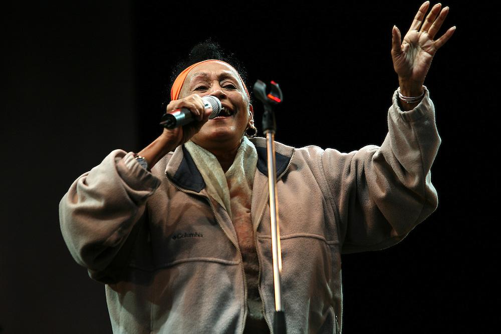Omara Portuondo performs at Kenwood House, Hampstead Heath, London