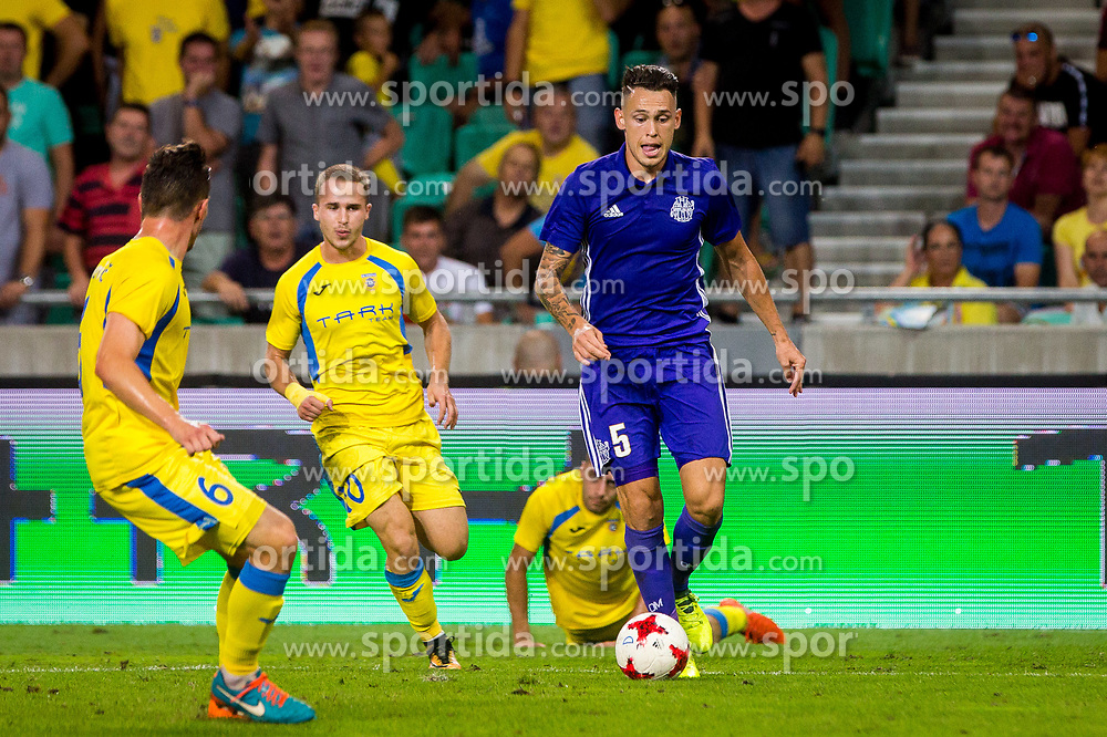 Lucas Ocampos of Olympic Marseille during football match between NK Domzale and Olympique de Marseille in First game of UEFA Europa League playoff round, on August 17, 2017 in SRC Stozice, Ljubljana, Slovenia. Photo by Ziga Zupan / Sportida