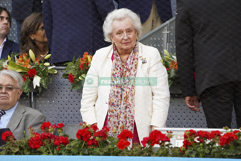 May 12, 2019 - Madrid, Spain - Pilar de Borbón attend the men's final during day 9 of the Mutua Madrid Open at La Caja Magica on May 12, 2019 in Madrid, Spain. (Credit Image: © Oscar Gonzalez/NurPhoto via ZUMA Press)