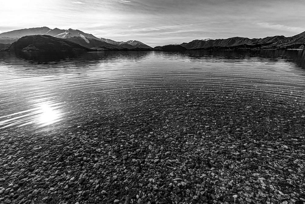 Clean, calm water of Lake Wanaka