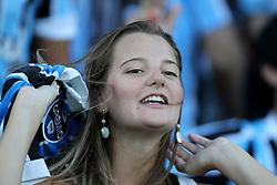 Torcida do Grêmio antes da partida contra o Oriente Petrolero válida pela Copa Libertadores da América 2011, no estádio Olimpico, em Porto Alegre. FOTO: Jefferson Bernardes/Preview.com