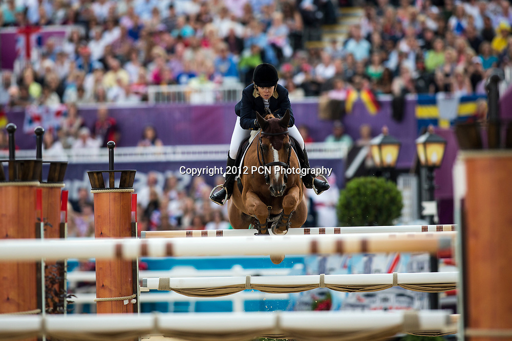 Edwina Tops-Alexander (AUS) riding ITOT DU CHATEAU in the Individual Jumping Equestrian event at the Olympic Summer Games, London 2012