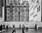 Photography of Sydney by Paul Green,Architecture George St,Black and white, facade opposite wynyard station,