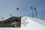 Peetu Piiroinen, Finland, during the mens snowboard big air qualification at the Pyeongchang 2018 Winter Olympics on February 21st 2018, at the Alpensia Ski Jumping Centre in Pyeongchang-gun, South Korea