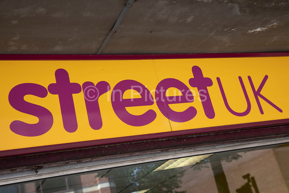 Sign for the affordable loans company Street UK in Birmingham, United Kingdom. Community interest company providing flexible, short term personal loans.