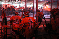 Players of Jesenice during ice hockey match between HDD SIJ Acroni Jesenice and Migross Supermercati Asiago Hockey in 2 game of Semifinal in AHL - Sky Alps Hockey League, on March 22, 2017 in Jesenice, Slovenia. Photo by Matic Klansek Velej / Sportida