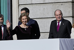Former King Juan Carlos I of Spain and Former Queen Sofia of Spain attends to 40 Anniversary of Spanish Constitution at Congreso de los Diputados in Madrid, Spain, December 6, 2018. Photo by A. Perez Meca/AlterPhotos/ABACAPRESS.COM