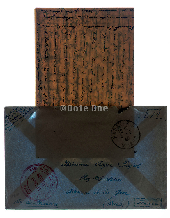 envelope with handwritten letter
