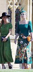 Lady Kitty Spencer arrives at St George's Chapel in Windsor Castle for the wedding of Prince Harry to Meghan Markle.