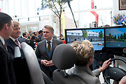 Koning Willem Alexander opent gerenoveerd BOVAGhuis in Bunnik. BOVAG is een brancheorganisatie van ruim 10.000 ondernemers die zich met mobiliteit bezighouden<br /> <br /> King Willem Alexander opens renovated Bovag House in Bunnik. Bovag is a trade association of more than 10,000 entrepreneurs engaged in mobility<br /> <br /> Op de foto / On the photo: Koning Willem-Alexander bekijkt een rijschool simulator  / King Willem-Alexander looks at a driving school simulator