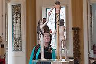 Wooden sculpture in the museum Pedro de Osma, Barranco
