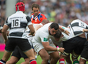 Twickenham, Surrey, United Kingdom.  Ellis GENGE, guiding the england forwards drive, during the, Old Mutual Wealth Cup, England vs Barbarian's match, played at the  RFU. Twickenham Stadium, on Sunday   28/05/2017England    <br /> <br /> [Mandatory Credit Peter SPURRIER/Intersport Images]