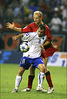 Fotball. 3. september 2005, Bosnia-Herzegovina - Belgia<br /> <br /> MLADEN BARTOLOVIC - OLIVIER DESCHACHT<br /> Foto: Eric Lalmand, Digitalsport<br /> Norway only