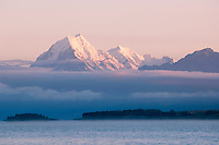 Mount Cook rising above lake Pukaki, New Zealand