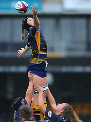 Lindsay O'Donell of Worcester Valkyries wins the lineout - Mandatory by-line: Nizaam Jones/JMP - 22/09/2018 - RUGBY - Sixways Stadium - Worcester, England - Worcester Valkyries v Richmond Women - Tyrrells Premier 15s