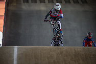#110 (SMULDERS Laura) NED at Round 2 of the 2018 UCI BMX Superscross World Cup in Saint-Quentin-En-Yvelines, France.