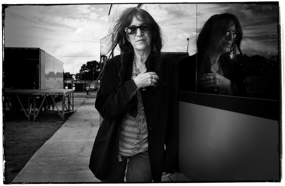 US Singer & Photographer Patti Smith.