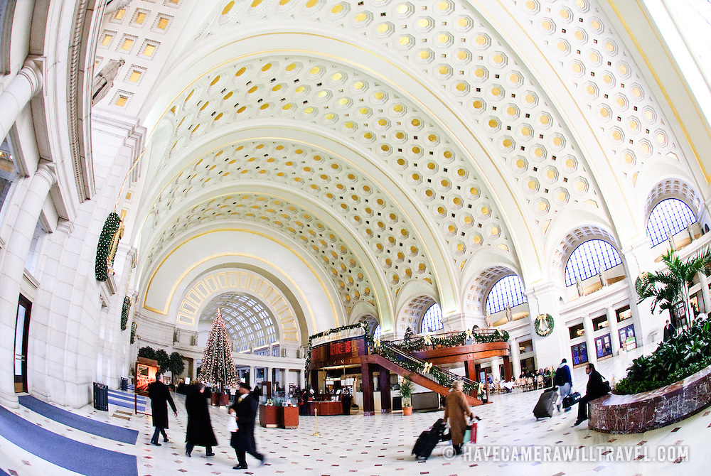 Interior of Union Station, Washington DC.