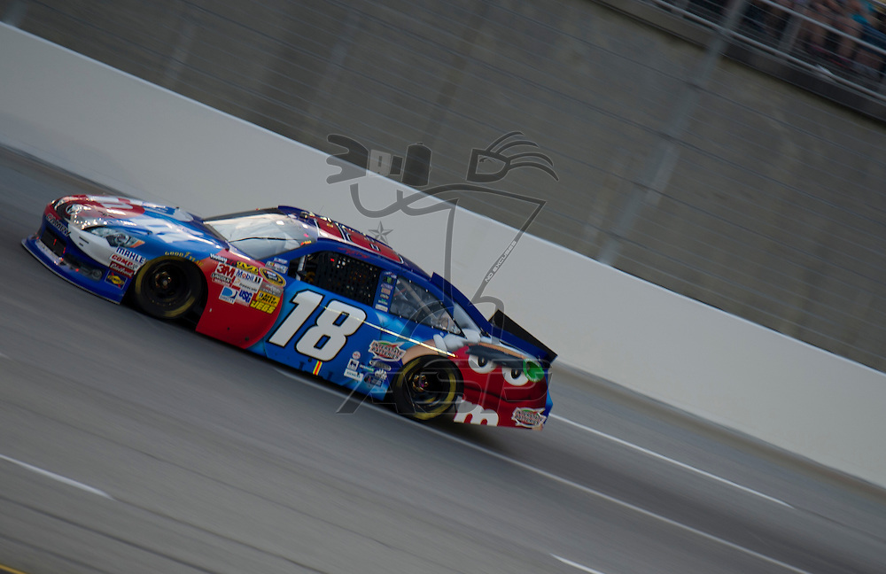 Sparta, KY - JUN 30, 2012: Kyle Busch (18) during the Quaker State 400 at  Kentucky Speedway in Sparta, KY.