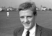 Tommy Shields, footballer, Linfield FC, Belfast, N Ireland, UK, September 1966, 196609000019<br /> <br /> Copyright Image from Victor Patterson, 54 Dorchester Park, Belfast, UK, BT9 6RJ<br /> <br /> t1: +44 28 9066 1296 (from Rep of Ireland 048 9066 1296)<br /> t2: +44 28 9002 2446 (from Rep of Ireland 048 9002 2446)<br /> m: +44 7802 353836<br /> <br /> e1: victorpatterson@me.com<br /> e2: victorpatterson@gmail.com<br /> <br /> The use of my copyright images is subject to my Terms & Conditions.<br /> <br /> It is IMPORTANT that you familiarise yourself with them. They are available on my website at www.victorpatterson.com.<br /> <br /> None of my copyright images may be used on a website unless they are visibly watermarked, i.e. © Victor Patterson within the body of the visible image. Metadata denoting my copyright must NOT be deleted. <br /> <br /> Web use is extra at currently recommended NUJ rates.