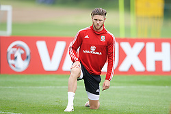 CARDIFF, WALES - Saturday, June 4, 2016: Wales' Wes Burns during a training session at the Vale Resort Hotel ahead of the International Friendly match against Sweden. (Pic by David Rawcliffe/Propaganda)