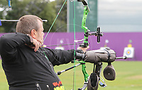 Paralympics London 2012 - ParalympicsGB - Archery Mens Individual Compound Open Heats 30th August 2012<br />   <br /> John Stubbs competing in the Mens Archery Individual Compound - Open Heats at the Paralympic Games in London. Photo: Richard Washbrooke/ParalympicsGB