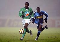 Fotball<br /> Frankrike 2004/05<br /> Ligacup<br /> Le Havre v Saint Etienne<br /> 21. desember 2004<br /> Foto: Digitalsport<br /> NORWAY ONLY<br /> DIDIER ZOKORA (ST-E) / LASSANA DIARRA (HAV)