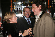 Anne Robinson, David Collins and Marco Pierre White, A A Gill party to celebrate the  publication of Table Talk, a collection of his reviews. Hosted by Marco Pierre White at <br />Luciano, 72 St James's Street, London,. 22 October 2007, -DO NOT ARCHIVE-© Copyright Photograph by Dafydd Jones. 248 Clapham Rd. London SW9 0PZ. Tel 0207 820 0771. www.dafjones.com.
