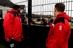 Mark Little and Luke Freeman of Bristol City interact with children at The BCCT EFL Kids Cup - Mandatory by-line: Robbie Stephenson/JMP - 23/11/2016 - FOOTBALL - South Bristol Sports Centre - Bristol, England - BCCT EFL Kids Cup