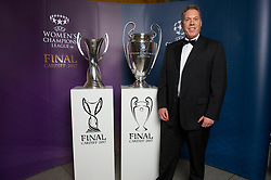 CARDIFF, WALES - Monday, December 5, 2016: Guests at the Wales Sport Awards 2016 pose with the UEFA Champions League Trophies before the ceremony at the Millennium Centre. Peter Drew. (Pic by Ian Cook/Propaganda)