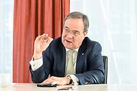 27 NOV 2020, BERLIN/GERMANY:<br /> Armin Laschet, CDU, Ministerpraesident Nordrhein-Westfalen, waehrend einem Interview, Landesvertretung Nordrhein-Westfalen<br /> IMAGE: 20201127-01-010