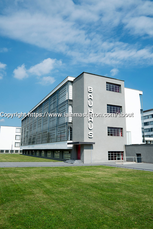 Bauhaus Building and architecture school designed by  Walter Gropius  in Dessau-Rosslau Germany