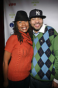 l to r: Raqiah Mays and DJ Envy at The Jamie Foxx's Album Release Party for Intuition, Sponsored by Vibe Magazine & Patron Tequila held at Home on December 17, 2008 in New York City..